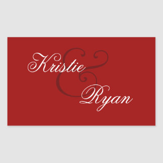 Red Envelope Seal Wedding Stickers