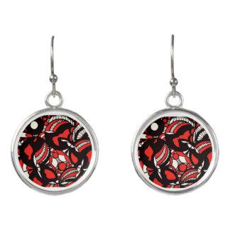 Red Envy Drop Earrings