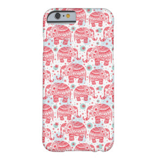 Red Ethnic Elephant Pattern Barely There iPhone 6 Case