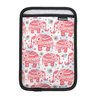 Red Ethnic Elephant Pattern iPad Mini Sleeve