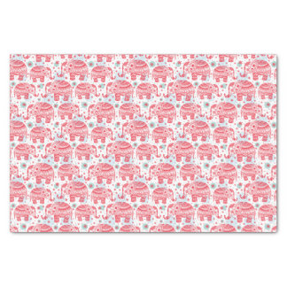 Red Ethnic Elephant Pattern Tissue Paper