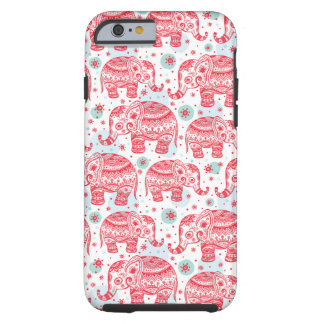 Red Ethnic Elephant Pattern Tough iPhone 6 Case