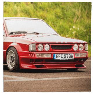 Red European Sports Car Napkin