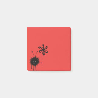 Red Evil Flower Bug Post-it Notes