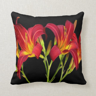 Red Exotic Garden Flowers Elegant Romantic gifts Throw Pillow