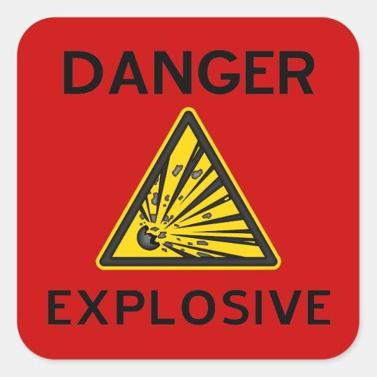 Red Explosive Warning Sign Sticker
