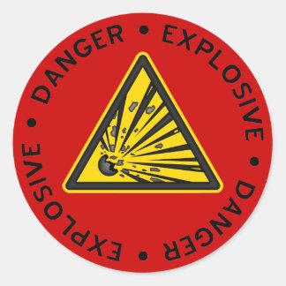 Red Explosive Warning Sticker