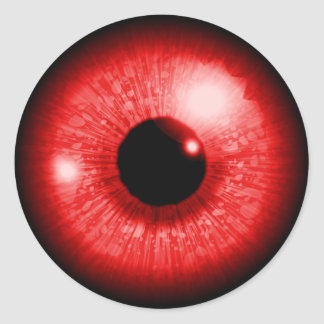 Red Eye Classic Round Sticker