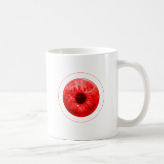Red Eye Eyeball jGibney The MUSEUM Artist Serie Basic White Mug