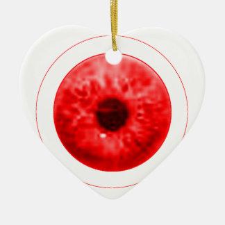 Red Eye Eyeball jGibney The MUSEUM Artist Serie Ceramic Heart Decoration