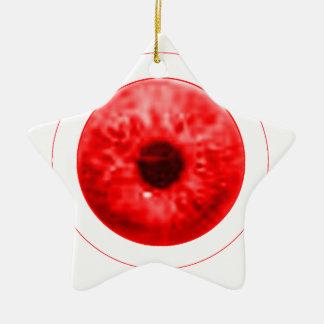 Red Eye Eyeball jGibney The MUSEUM Artist Serie Ceramic Star Decoration