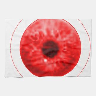 Red Eye Eyeball jGibney The MUSEUM Artist Serie Kitchen Towels