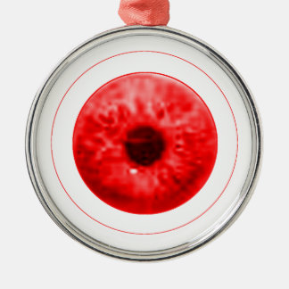 Red Eye Eyeball jGibney The MUSEUM Artist Serie Silver-Colored Round Decoration
