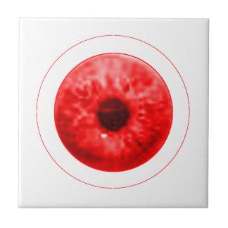 Red Eye Eyeball jGibney The MUSEUM Artist Serie Small Square Tile