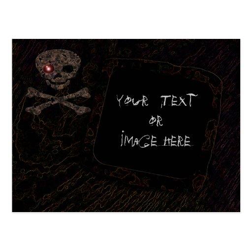 Red Eye Skull: Photo Frame #3 Postcard