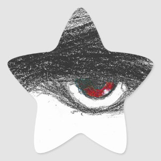Red Eye Star Stickers