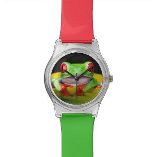 Red Eye Treefrog, Agalychinis callidryas, Native Wrist Watch