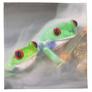 Red Eye Treefrog in the mist, Agalychinis 2 Napkin
