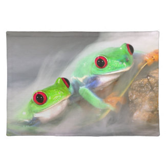 Red Eye Treefrog in the mist, Agalychinis 2 Placemat