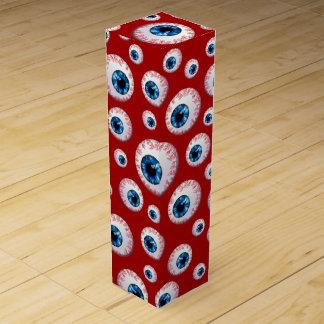 Red eyeball pattern wine gift box
