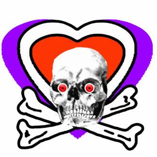 Red Eyeballs Skull Heart & Bones White The MUSEUM Photo Sculptures