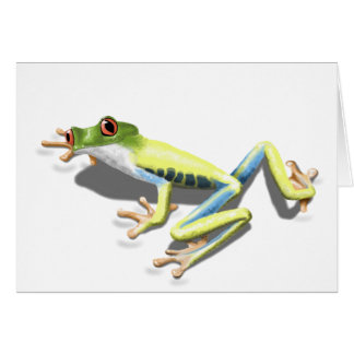 Red Eyed Frog Greeting Card