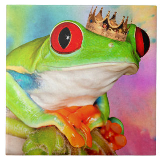 Red-eyed Frog Prince decorative tile