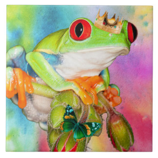 Red-eyed Frog Prince design decorative tile