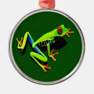 Red-Eyed Green Tree Frog Christmas Ornament