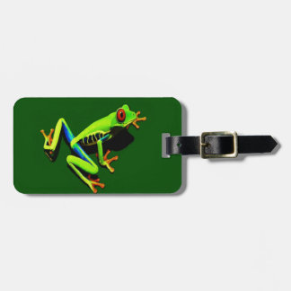 Red-Eyed Green Tree Frog Luggage Tag