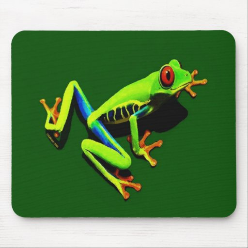 Red-Eyed Green Tree Frog Mouse Pads