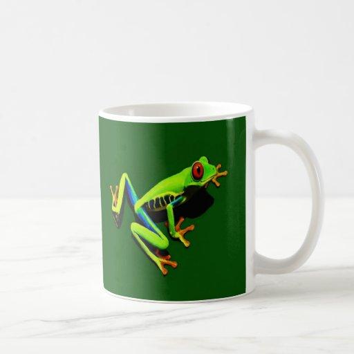 Red-Eyed Green Tree Frog Coffee Mugs
