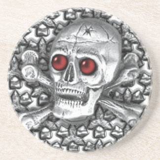 Red Eyed Skull Coaster