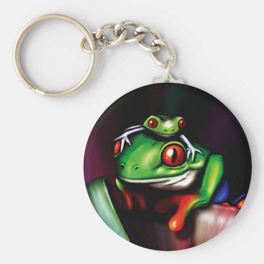 Red Eyed Tree Frog Basic Round Button Key
