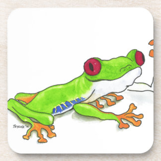 Red Eyed Tree Frog Beverage Coaster