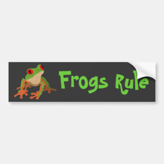 Red Eyed Tree Frog Car Bumper Sticker