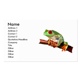 Red Eyed Tree Frog Business Cards
