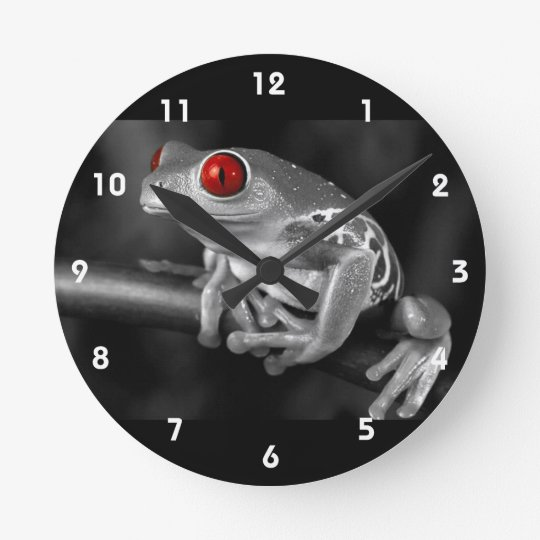 Red Eyed Tree Frog Clock