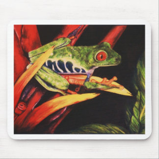 Red Eyed Tree Frog- Color Pencil 1991 Mouse Pad