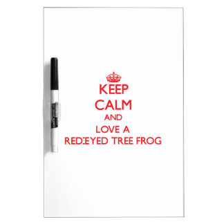 Red-Eyed Tree Frog Dry Erase Whiteboard