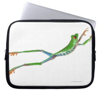 Red eyed tree frog jumping laptop sleeve