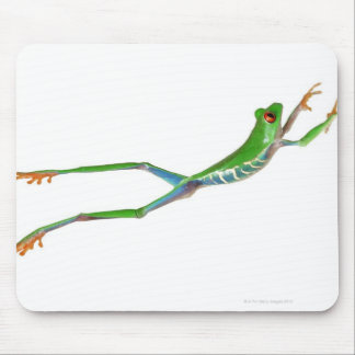 Red eyed tree frog jumping mouse mat