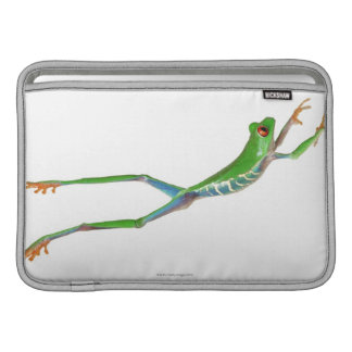 Red eyed tree frog jumping sleeve for MacBook air