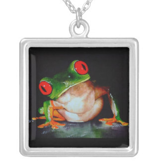 Red-Eyed Tree Frog Necklace