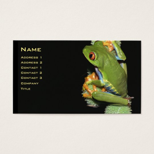 Red-eyed Tree Frog Profile Card - Customised
