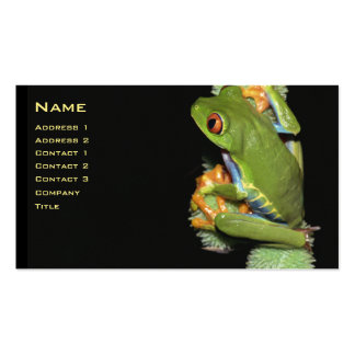 Red-eyed Tree Frog Profile Card - Customized Pack Of Standard Business Cards