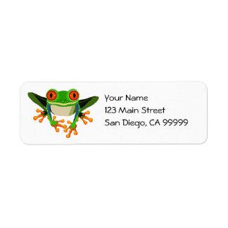Red Eyed Tree Frog Return Address Label