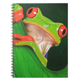 Red Eyed Tree Frog Spiral Note Books