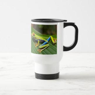 Red eyed tree frog stainless steel travel mug