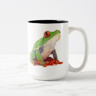 Red eyed tree frog Two-Tone mug